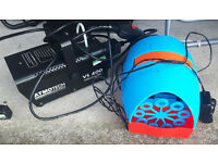 Small smoke machine and bubble machine for mobile discos or parties