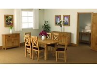 New Small Compact Butterfly Extending Salisbury Erne Oak Dining table & 4 chairs £649