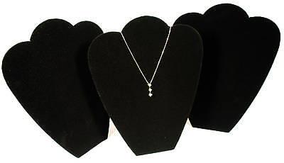 3 Black 11 Velvet Necklace Pendant Jewelry Displays