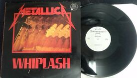 Metallica ‎– Whiplash, G, quite a rare 12 inch single, released on Megaforce Records ‎in 1983.