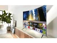 """Samsung 55"""" curved 4k smart tv"""
