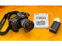 Nikon D200 + Sigma 18-200 Lens