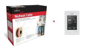 NuHeat nVent Floor Radiant Heat Cable + NuHeat Home Thermostat AC0056 - Floor Heating System