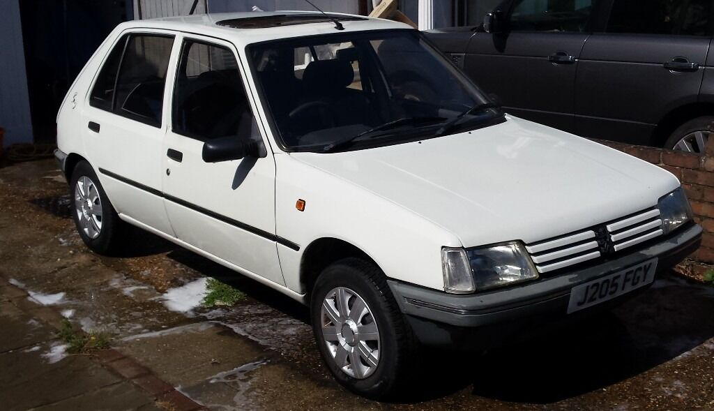 peugeot 205 diesel 1991 white 5 door mot in eltham london gumtree. Black Bedroom Furniture Sets. Home Design Ideas