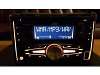 CAR HEAD UNIT JVC DOUBLE DIN MP3 CD PLAYER WITH USB AUX 4x 50 AMPLIFIER AMP STEREO RADIO