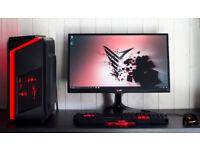 Custom Gaming Desktop PC Computer Fast Performance Intel i3 8GB Nvidia GTX 1050ti 1TB HDD Win10