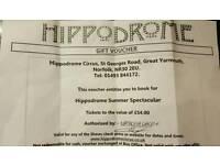 Hippodrome Circus gift voucher