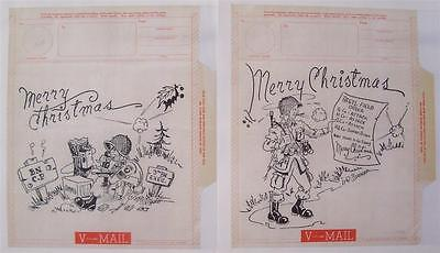 V-MAILS 517 Combat Paratrooper Team WWII 1944 Army 3 BN