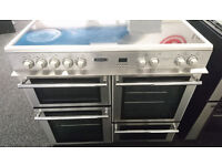 *30 stainless steel leisure 100cm range cooker comes with warranty can be delivered or collected