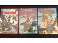 3 x How To Train Your Dragon DVDS