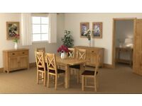 New Small Compact Butterfly Extending Salisbury Erne Oak Dining table & 4 chairs £599