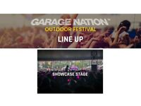 2 tickets for Garage Nation Outdoor Festival 2018