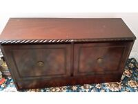 Sitting Room Quality polished solid mahogany furniture, 2 units for sale.