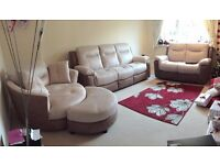 Three Piece Suite - Electric & Manual Recliner, Spinning Armchair, £2600 brand new, only 1 year old!