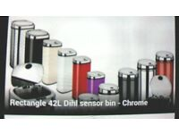 Dihl 42l chrome rectangular sensor bin