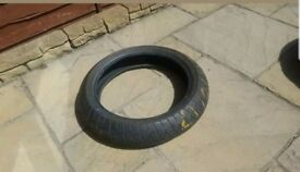 Bridgestone motorbike tyres. Front and Rear