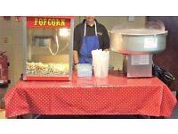 Popcorn Machine and Professional American Gold Medal Breeze Candy Floss Machine - great business