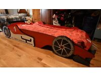 Racing car bed. Child's bed.
