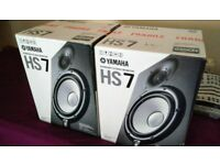 Mint Condition Yamaha HS7 Studio Monitors