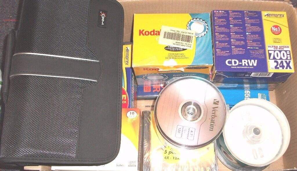 CD AND DVD DISCSin St Albans, HertfordshireGumtree - CD AND DVD 2 X MEMOREX 5 PACK CD RW 700MB 1 X MAXELL 5 PACK COLOUR CD R MUSIC XL 1180 1 X MAXELL 5 PACK CD R 1 X PACKARD BELL 10 PACK CD R 1 X MANTAR 5 PACK CD RW 1 X KODAK 7 PACK CD RW 1 X PLEOMAX DVD R ALL ABOVE I JEWEL CASES UNOPENED 34 X SINGLE...