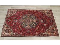 Blue And Red Hamadan Rug (DELIVERY AVAILABLE)
