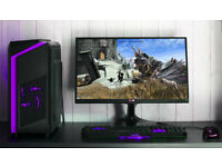 Black Purple Custom Gaming PC Intel Xeon 3.2GHZ Quad Core 8 Threads!GTX 1050ti Strix 12GB Ram