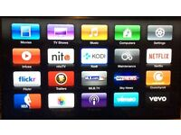 Apple TV 2 with the latest KODI jail broken, fully up to date. Boxed, instruction manual £120
