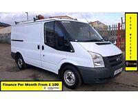 Finance £95 P/ M-Ford Transit Low Roof SWB Van 2.2 300, 67k Miles Only -1 Owner-FSH-1YR MOT 260 280