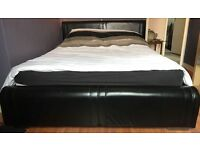 King Size Real Leather Bed Frame