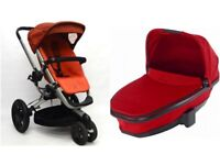 Quinny Buzz 3 Stroller & Carrycot- Rebel Red