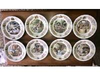 Complete Set of 8 Foxwood Tales Fine Bone China Plates made by Wedgewood