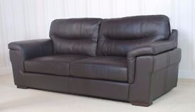 Designer Leather Black Dayson Sofa (186) £399