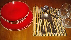 Debenhams designer dinner set and kitchenware £30 - by end February