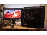 Gaming PC i5,8GBRam,GTx760, 120GB SSD + 500GB HDD,new cooler and quiet PC case