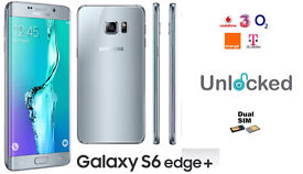 Unlocked Samsung Galaxy S6 Edge Plus Mobile Phone - Silver - Dual SIM
