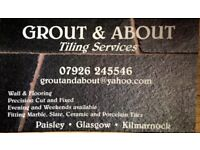 Grout and About Tiling Services. Competitive rates. Quality finish.