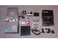 GoPro Hero 3+ Silver Edition + Accessories and 16gb Memory Card.