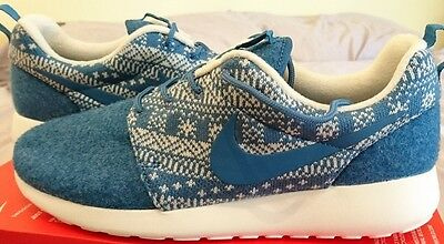 Nike Roshe One Winter Women's Trainers Uk 5 Rosherun Shoe 685286-441 Bnib blue