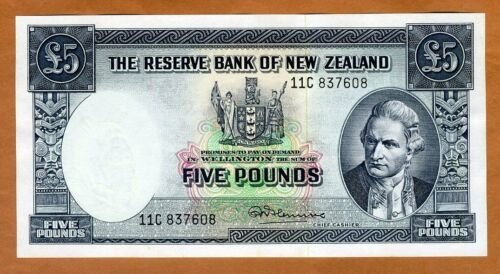New Zealand, 5 pounds, ND (1967) P-160d, UNC