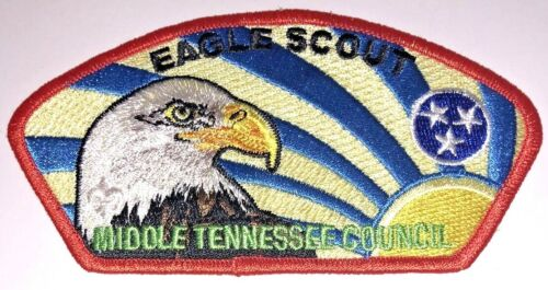Eagle Scout Middle Tennessee Council SA-28 Red Border Council Strip Patch (CSP)