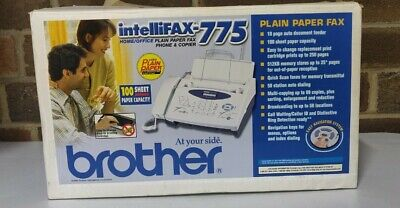 Brother Intellifax-775 Plain Paper Fax Phone Copier In Box