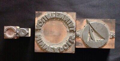 Vintage Minneapolis Aquatennial Letterpress Printing Blocks - 2 Sets