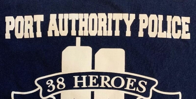 PAPD Port Authority Police Department T-Shirt WTC 9/11 Sz L New NYPD