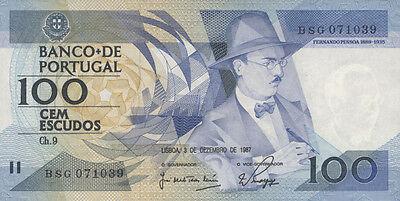 Portugal 100 Escudos 1987 Pick 179d (1)