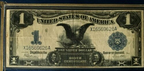1899 $1 ONE DOLLAR BLACK EAGLE SILVER CERTIFICATE VERY NICE