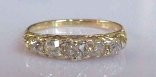 Vintage 18ct Yellow Gold Diamond (0.40ct) 5 Stone Band Ring Size N