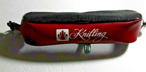 Knilling Deluxe Shoulder Rest Pouch, Large, Red, with Clasps And Ring to attach