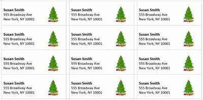 300 -custom Printed Christmas Large Return Address Labels 1 X 2-58