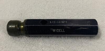 12-14 Npt Widell Pipe Thread Plug Gage -
