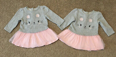 Lot Of 2 Baby Infant Girl Dresses Size 6-9 Months! Gently Used/Very Good!